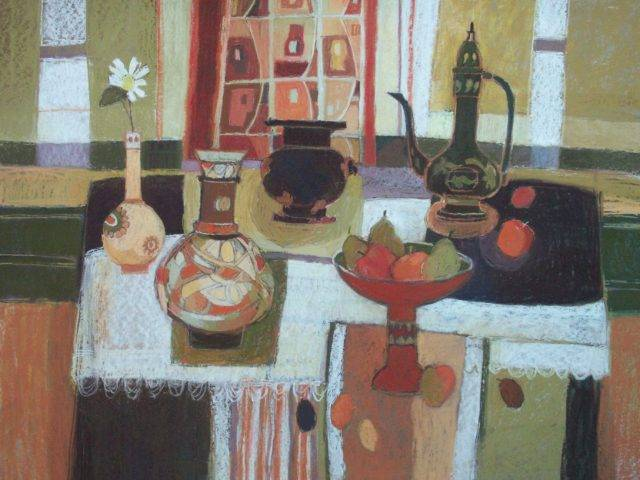 Moira Huntly - Interior with Still Life