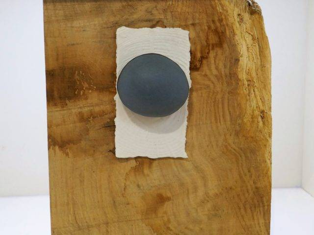 Blue Stone on Wood IV