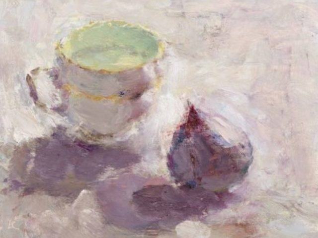 Lynne Cartlidge - Fig and a Porcelain Cup