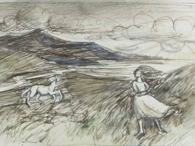 Girl and Wild Pony