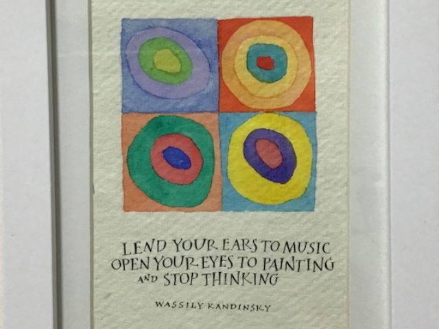 Kandinsky - thinking