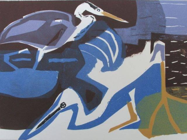 Grey Heron and Little Egret