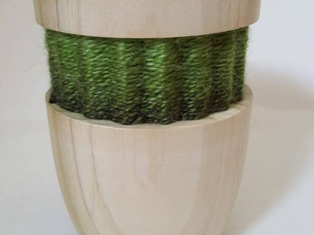Tulip wood and weave vase