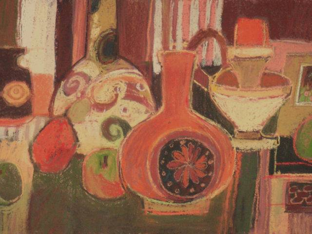 Moira Huntly - Still Life with Decorative Pots