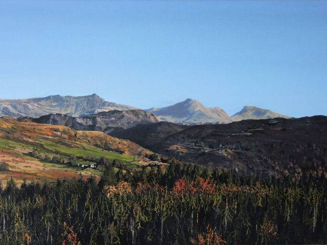 Snowdon from Beddgelert Forest