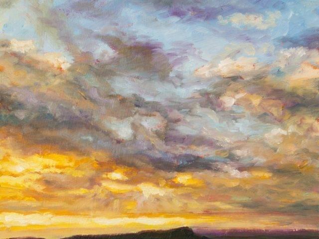 Sunset over Bosley Cloud