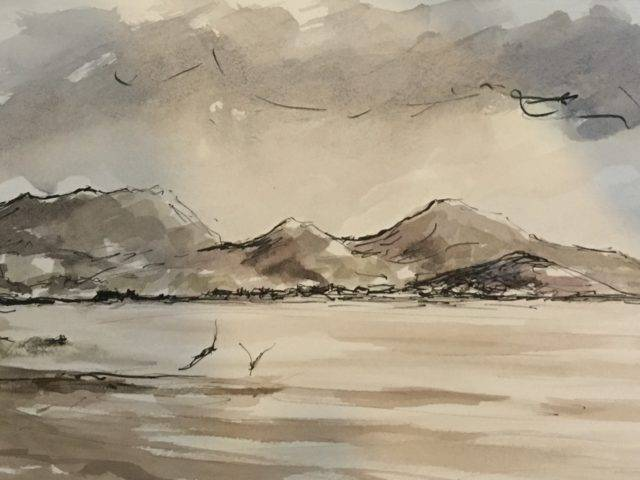 Rachel Stewart - Winter beach Llanbedrog