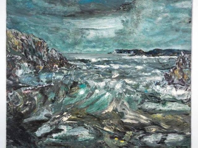 Trearddur Bay Storm Ophelia, Ynys Mon