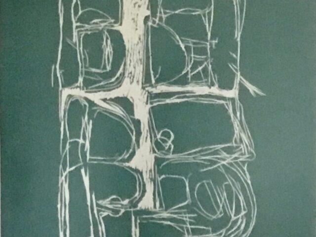 Janie McLeod: Sea Wall II (linocut, framed)