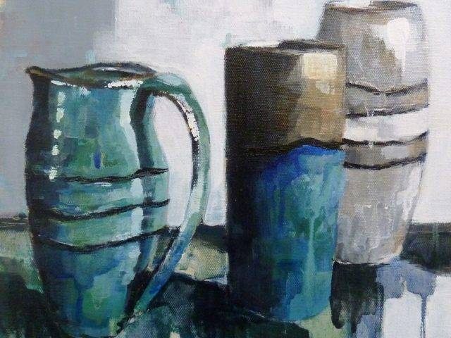 Two vases and a jug