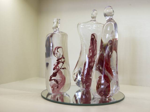 Bill Swann - Glass Figures Red (sold individually or as a pair)