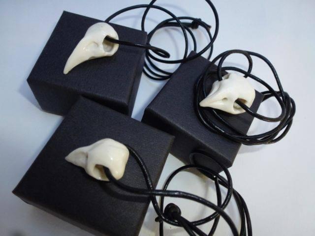 Pea Restall - Skull Head Necklace