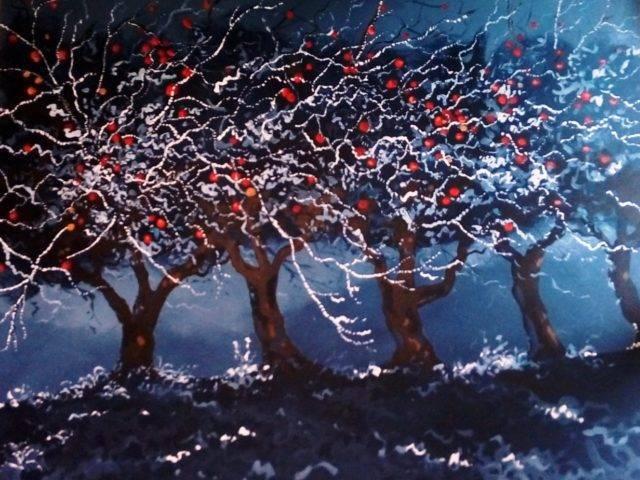 Frosty Apple Trees